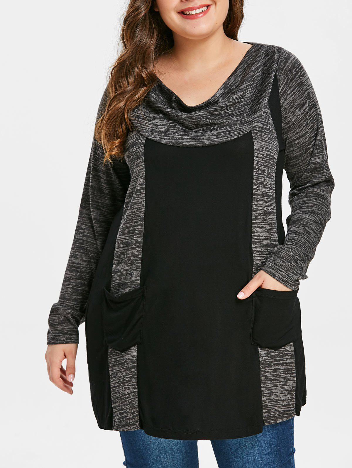 Affordable Plus Size Contrast T-shirt