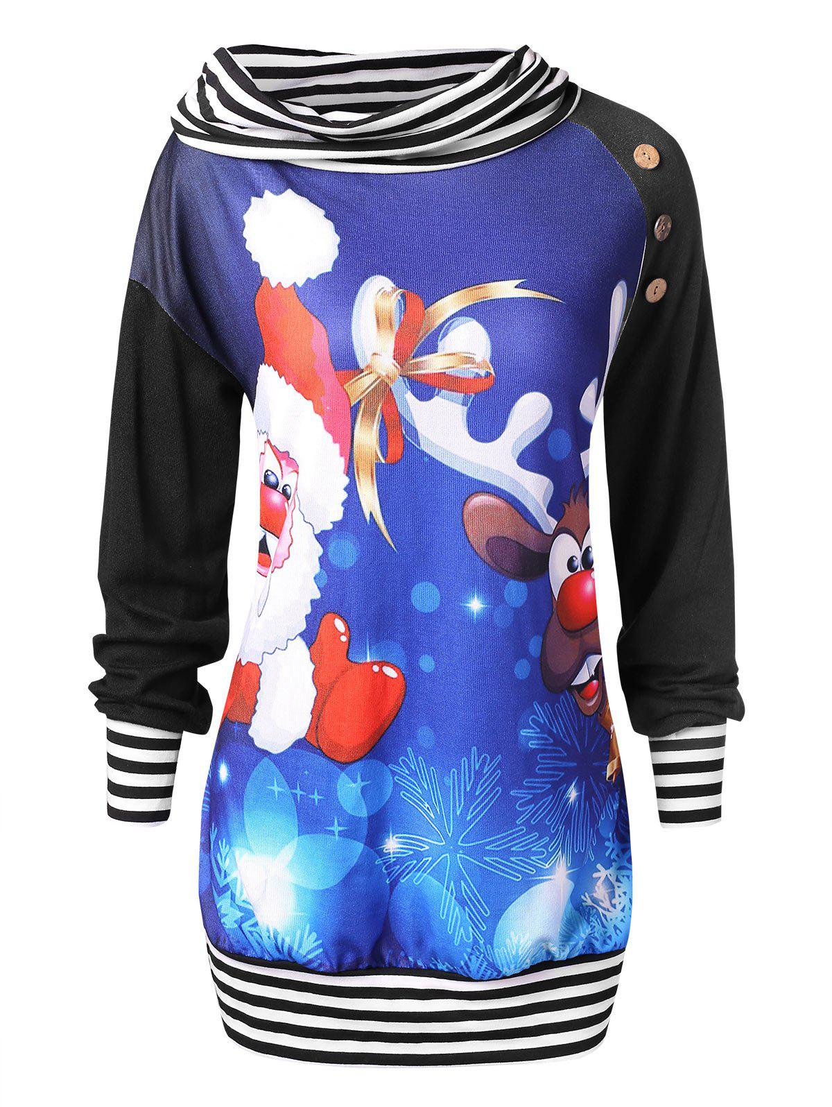 Best Plus Size Christmas Print Sweatshirt