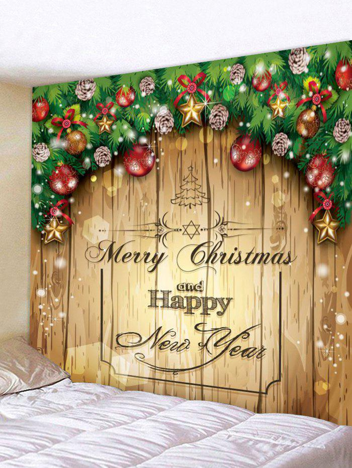 New Merry Christmas Print Tapestry Wall Hanging Decoration