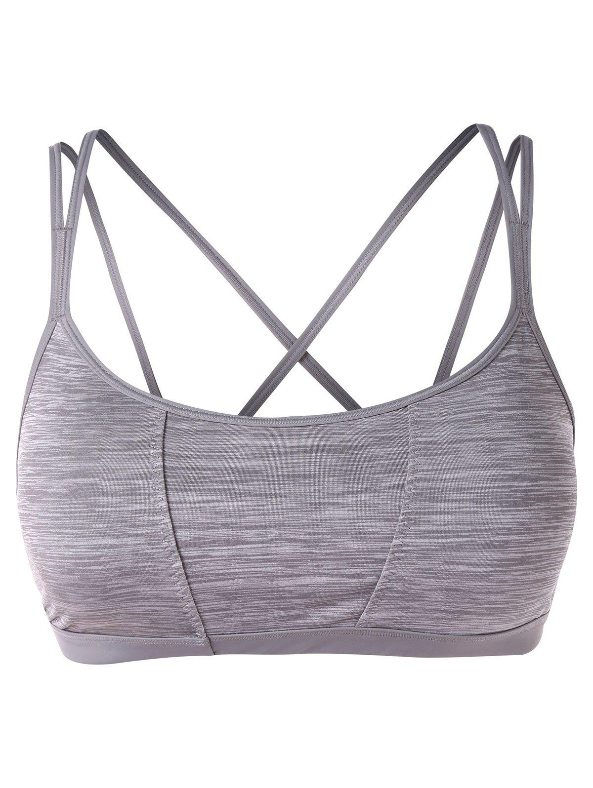 Outfit Print Cut Out Workout Bra