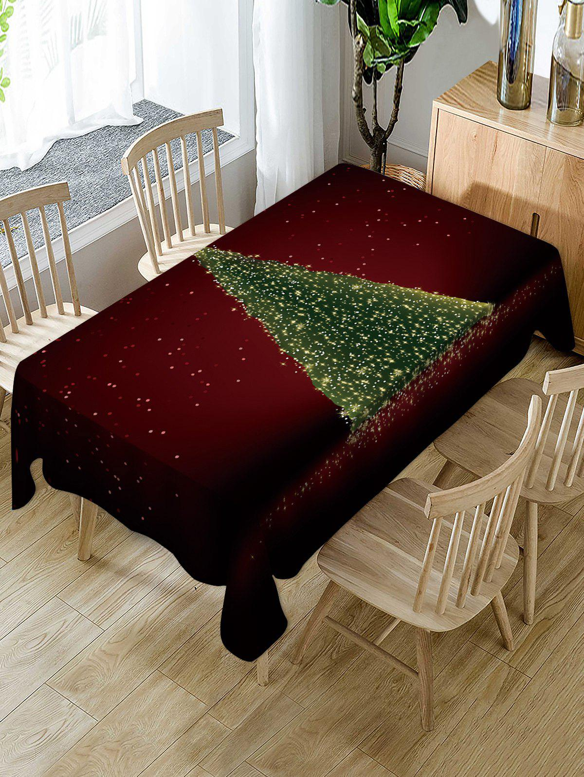 Christmas Tree Pattern Fabric Waterproof Table Cloth