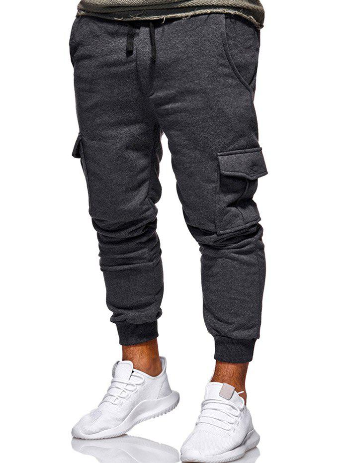 Sale Multi Pocket Design Drawstring Jogger Pants