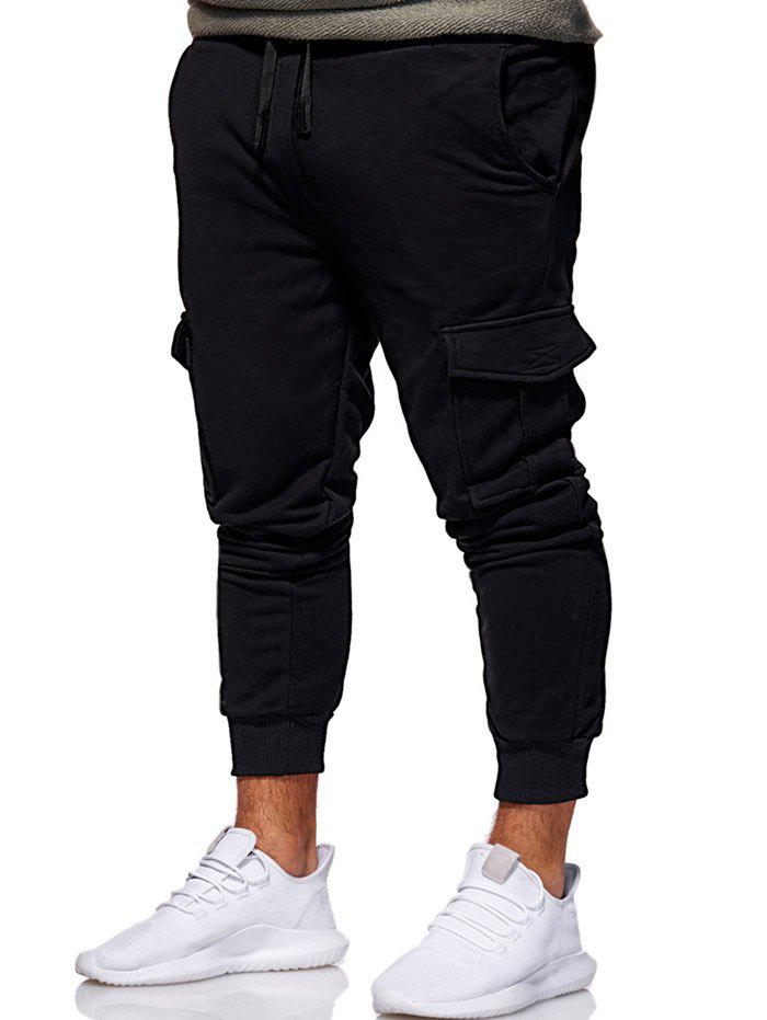 Outfit Multi Pocket Design Drawstring Jogger Pants