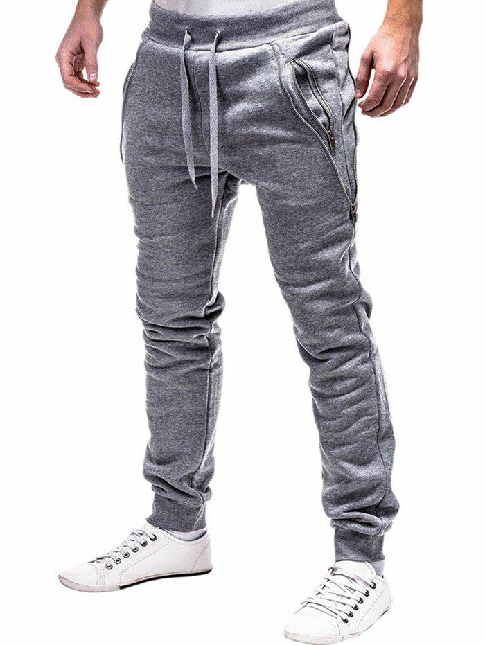 Latest Zip Embellished Casual Sport Jogger Pants