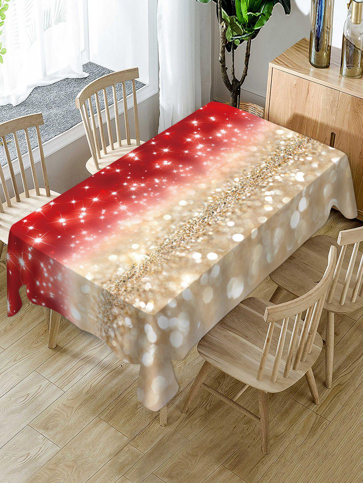 Latest Christmas Star Light Fabric Waterproof Table Cloth