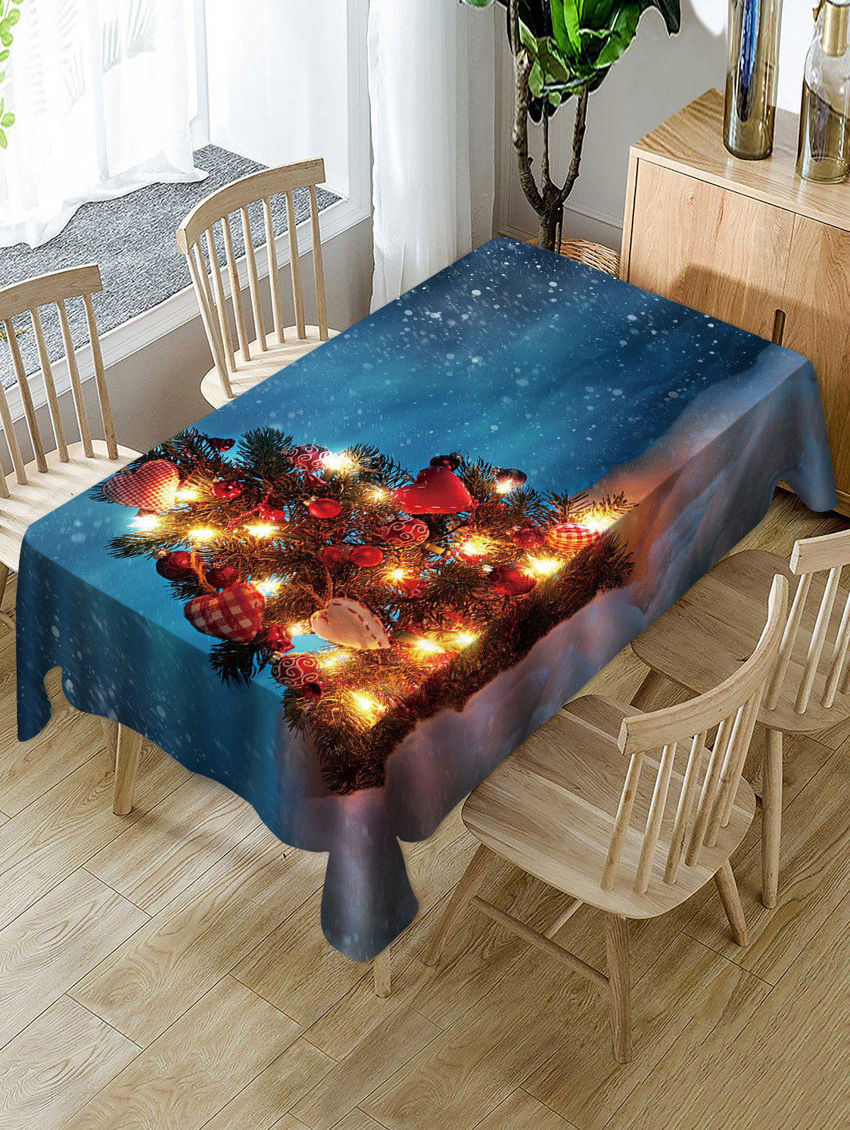 Cheap Christmas Tree Snow Fabric Waterproof Table Cloth