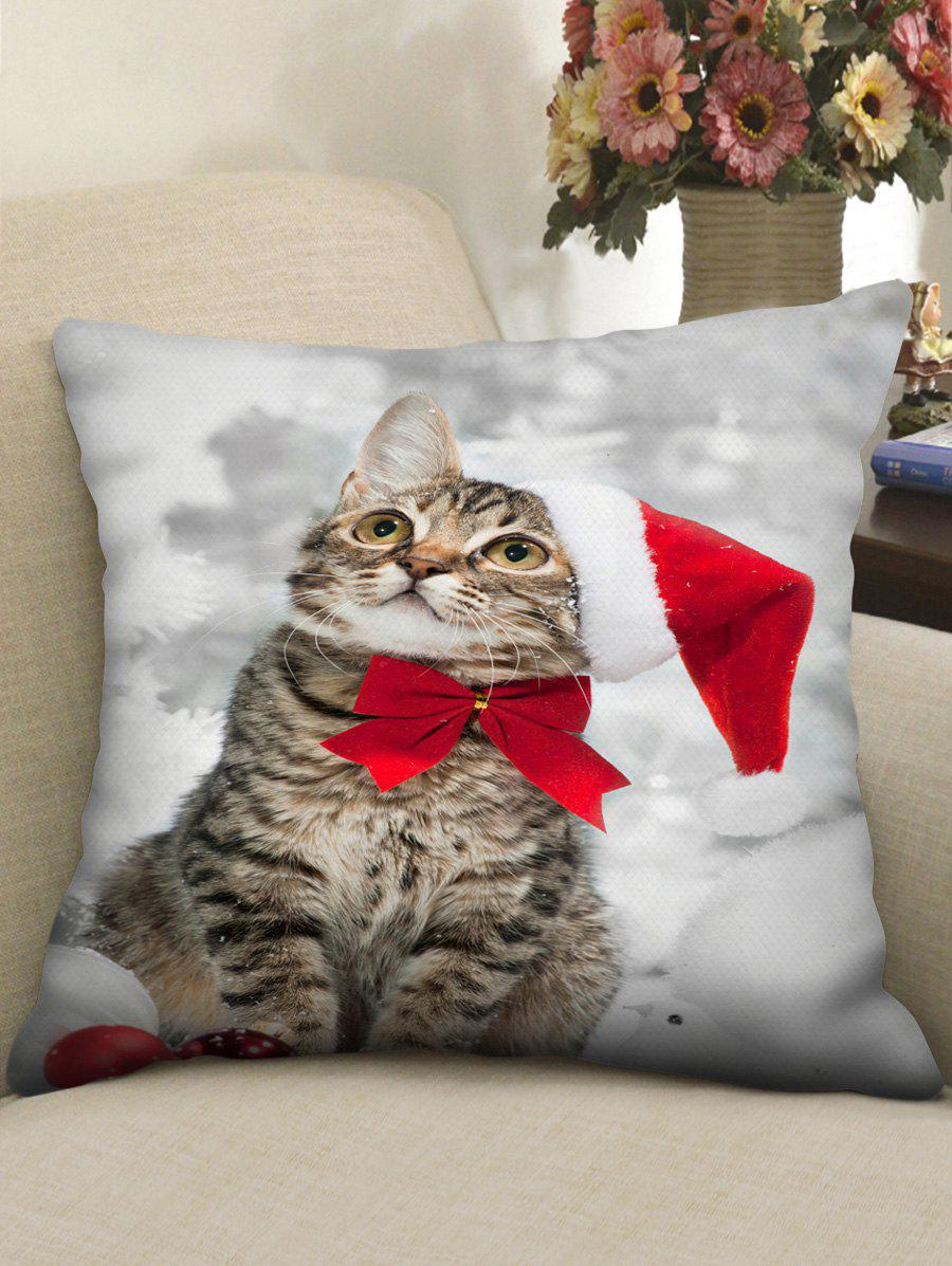 Outfits Christmas Cat Printed Pillowcase