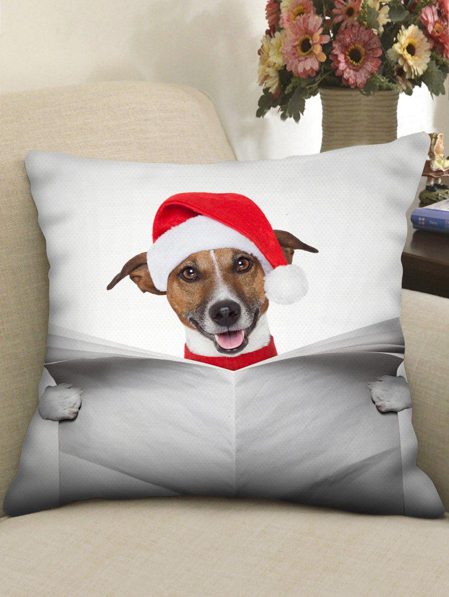 Hot Christmas Paper Dog Printed Pillowcase