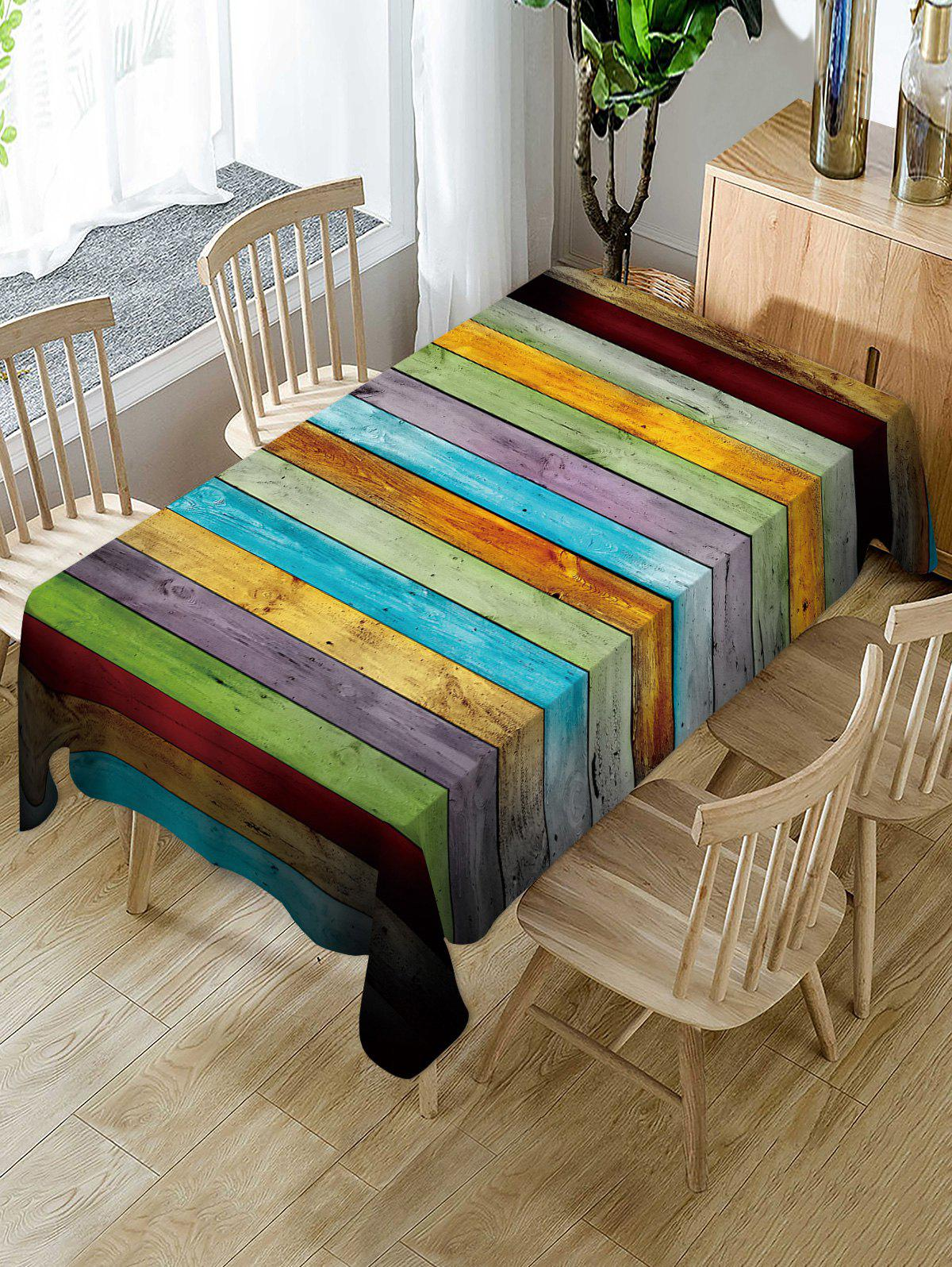 Wooden Print Fabric Waterproof Table Cloth