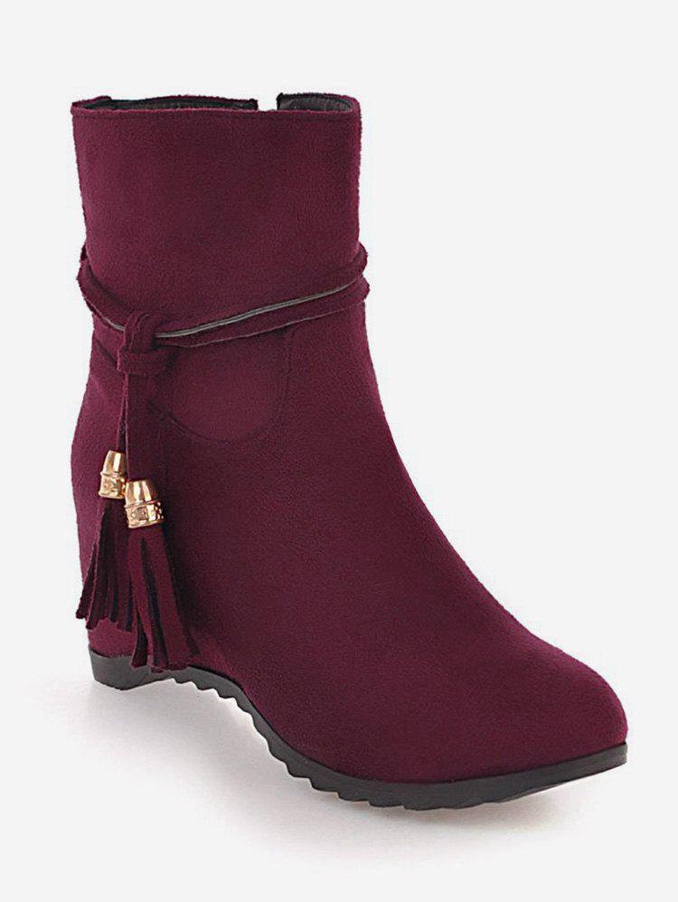 Store Plus Size Tassels Increased Internal Ankle Boots
