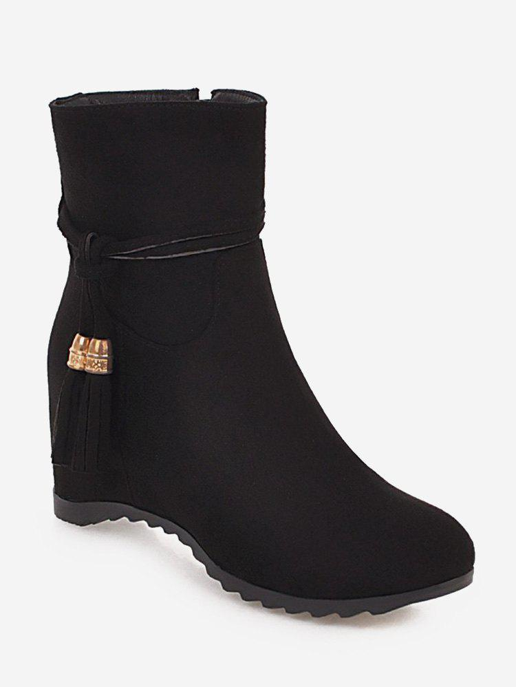 Latest Plus Size Tassels Increased Internal Ankle Boots