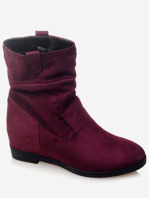 Store Plus Size Increased Internal Suede Mid Calf Boots