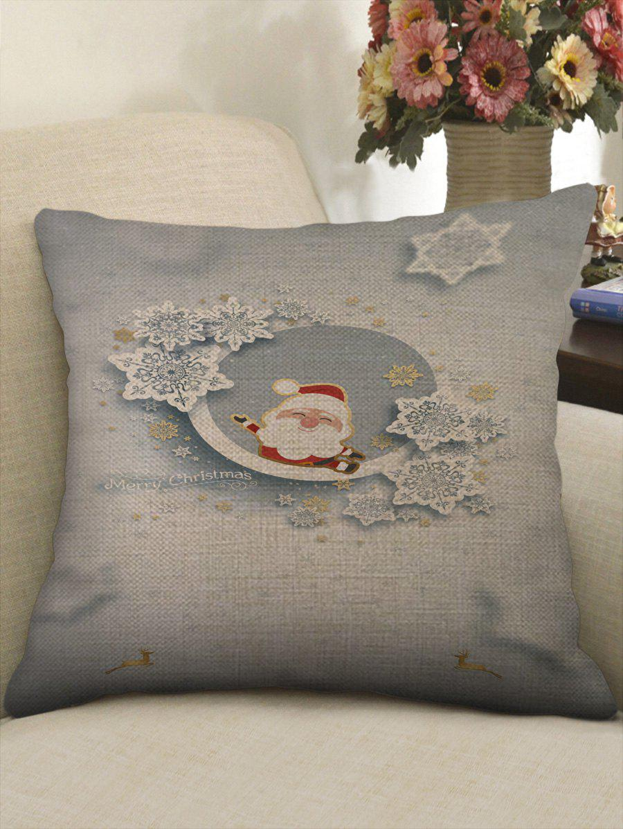 Latest Christmas Santa Claus Print Sofa Decorative Linen Pillowcase