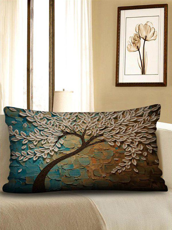 Chic Tree Print Decorative Linen Waist Pillowcase