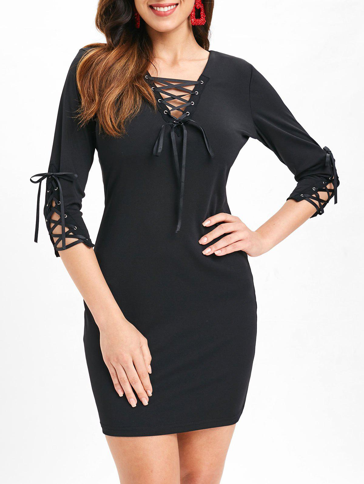 New Criss Cross Slim Fit Dress