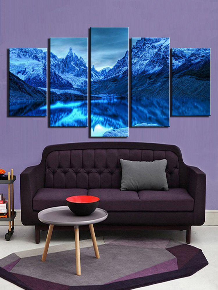 Affordable Unframed Mountains and Lake Print Split Canvas Paintings