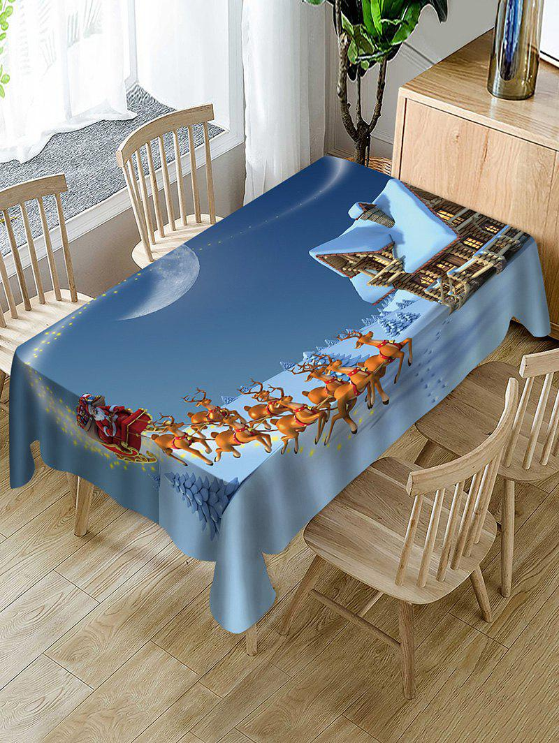 Outfits Christmas Sleigh Deer Print Fabric Waterproof Table Cloth