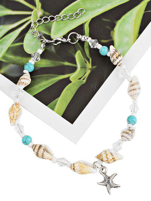 Trendy Bohemian Star and Sea Snail Pendant Anklet Chain