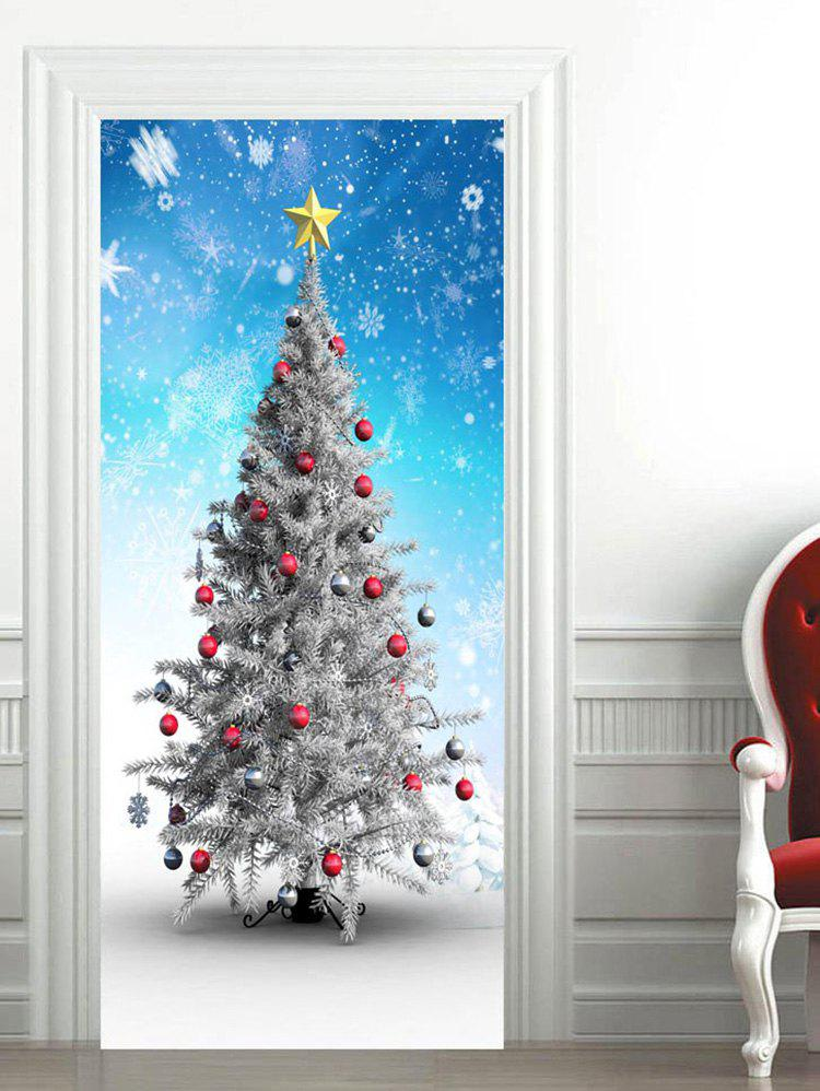 Shops Snowflakes Christmas Baubles Star Printed Door Stickers