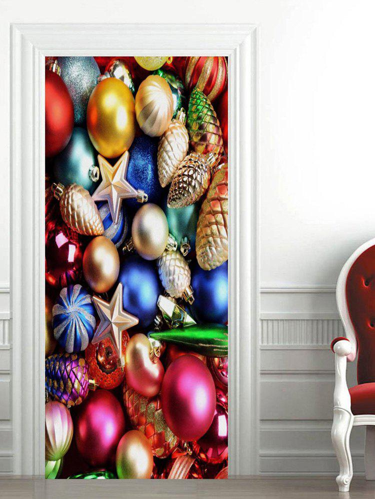 Cheap Christmas Baubles Pattern Door Stickers