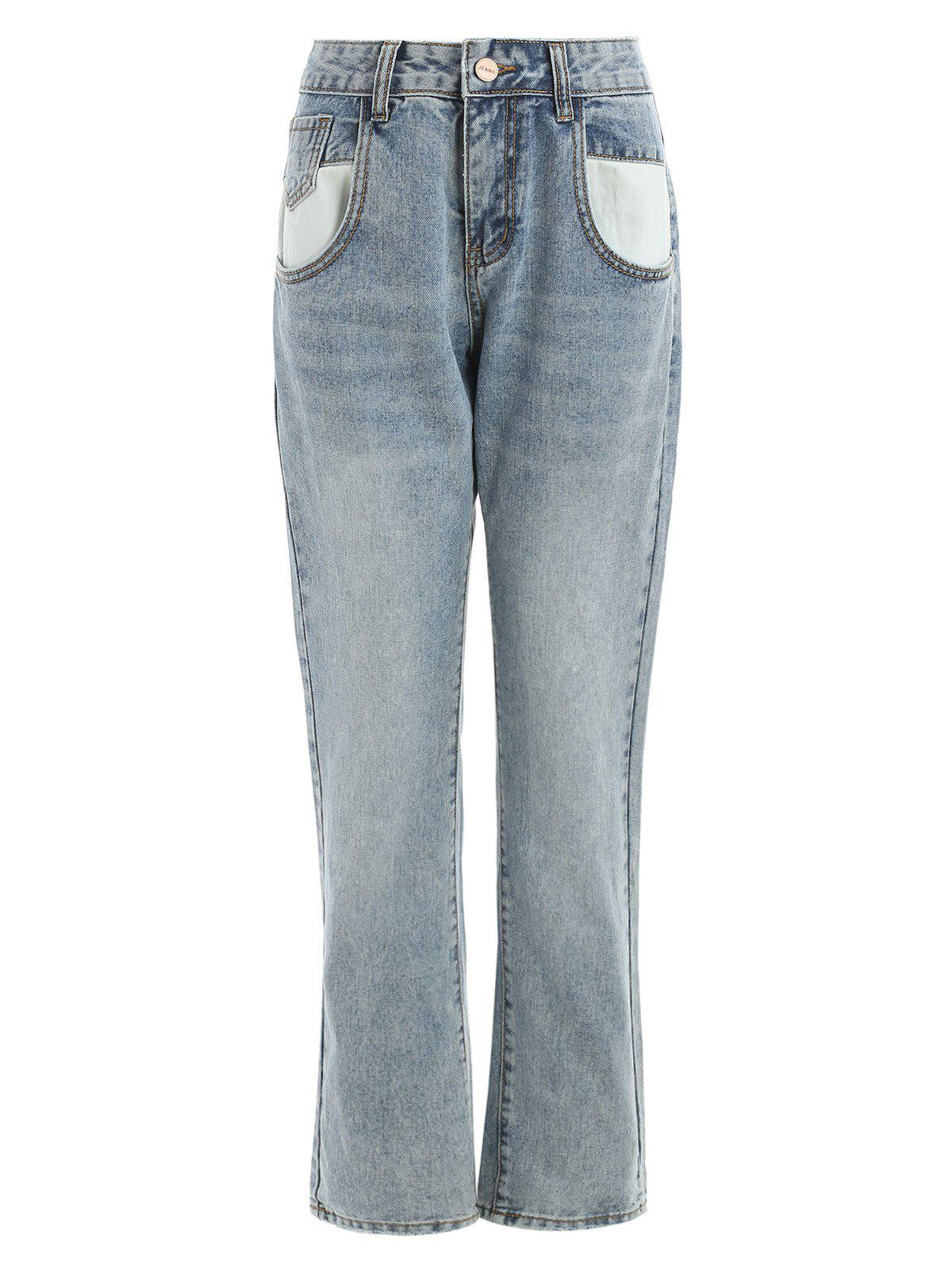 Unique Mid Waisted Jeans with Pockets