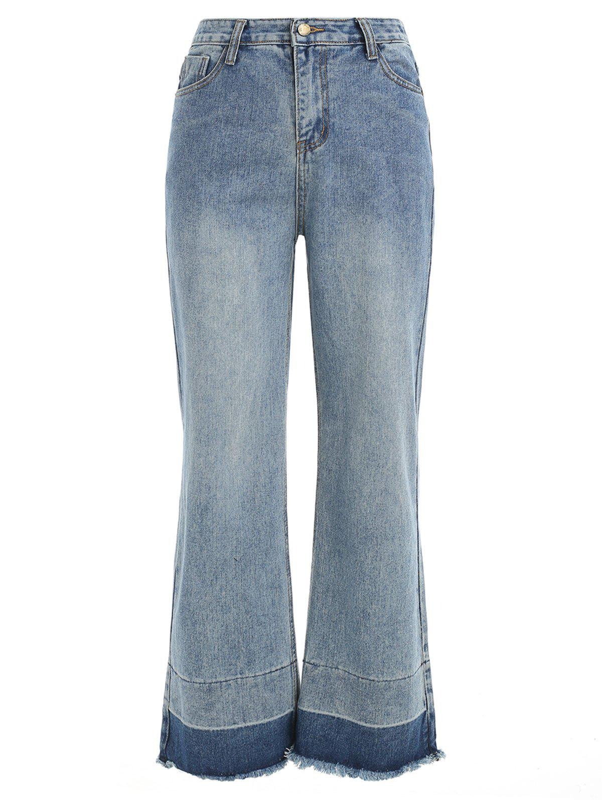 Sale Raw Edge Wide Leg Jeans