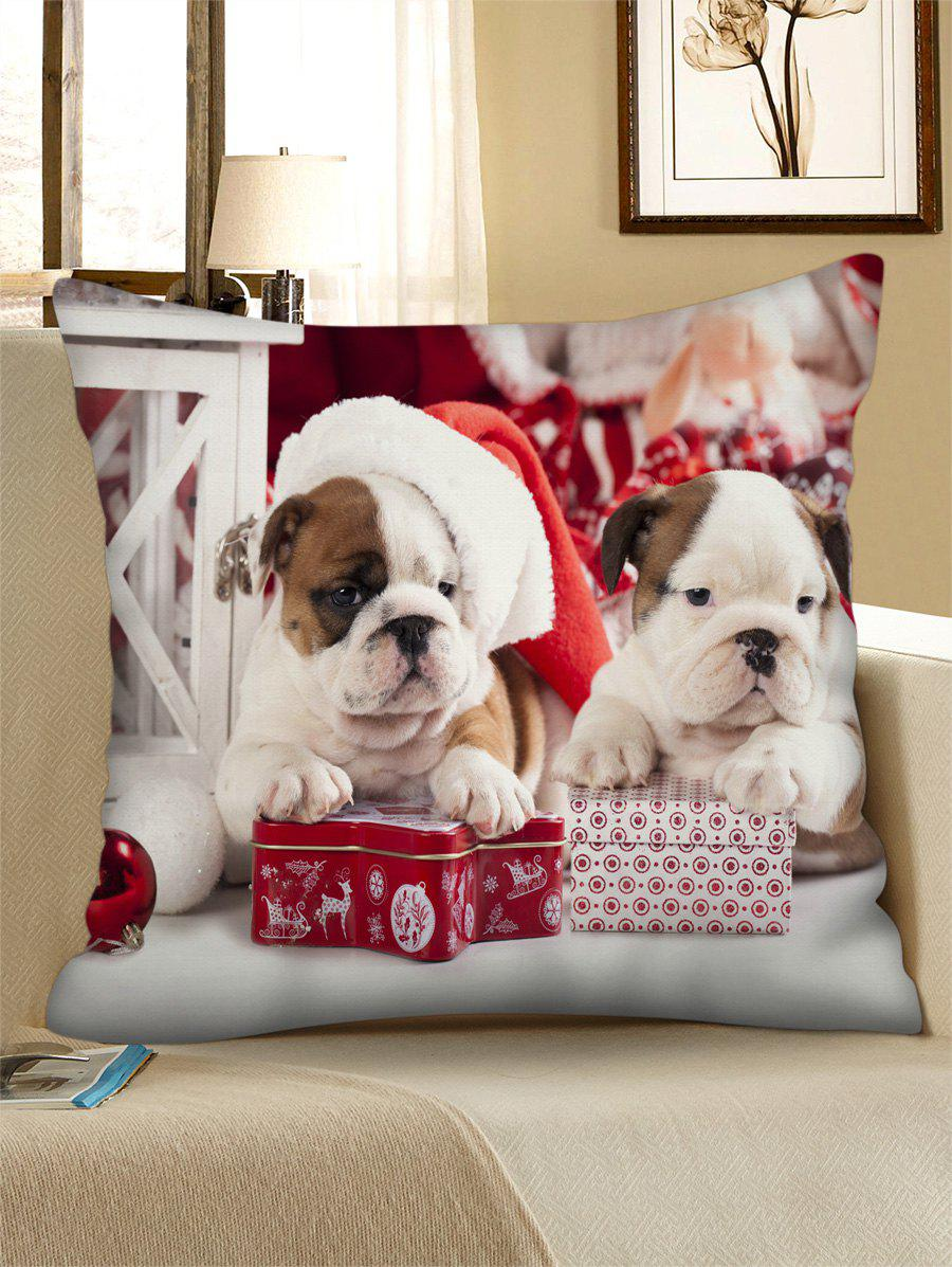 Outfits Christmas Dogs Gift Printed Throw Pillow Case