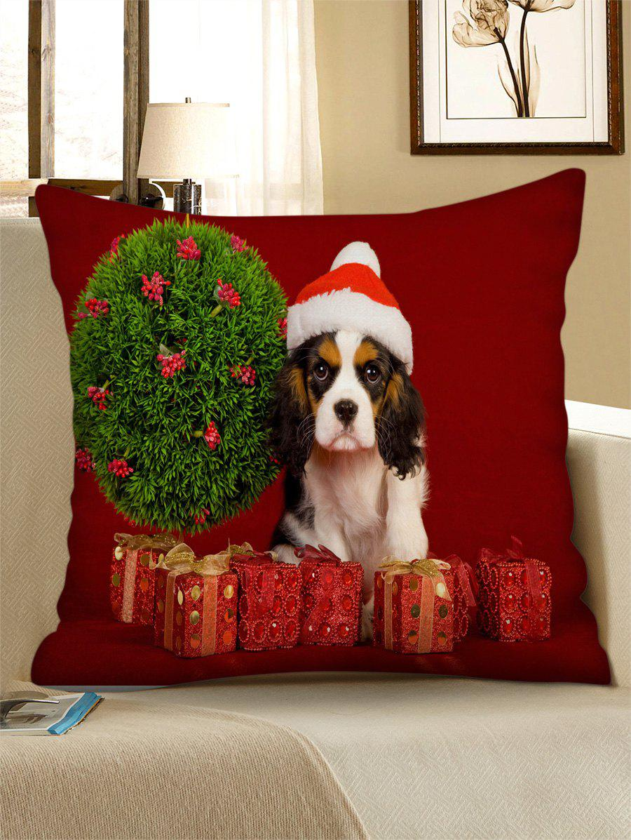 Unique Christmas Tree Dog Gifts Printed Throw Pillow Case
