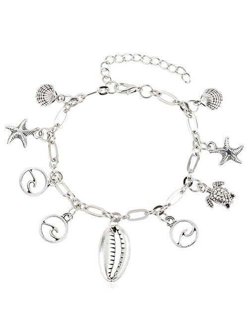 Outfit Metal Turtle and Starfish Embellished Anklet Chain