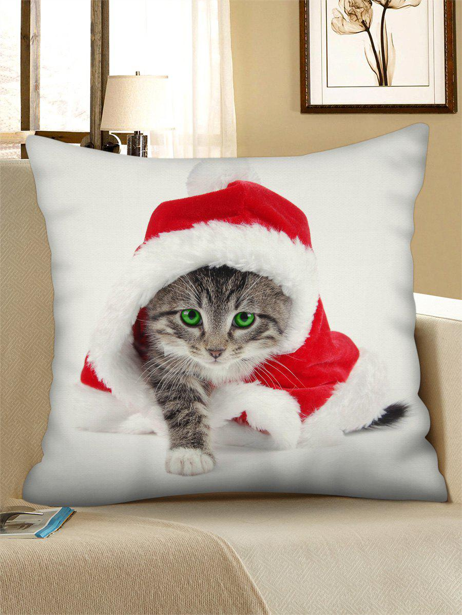 Store Christmas Cat Pattern Throw Pillow Case