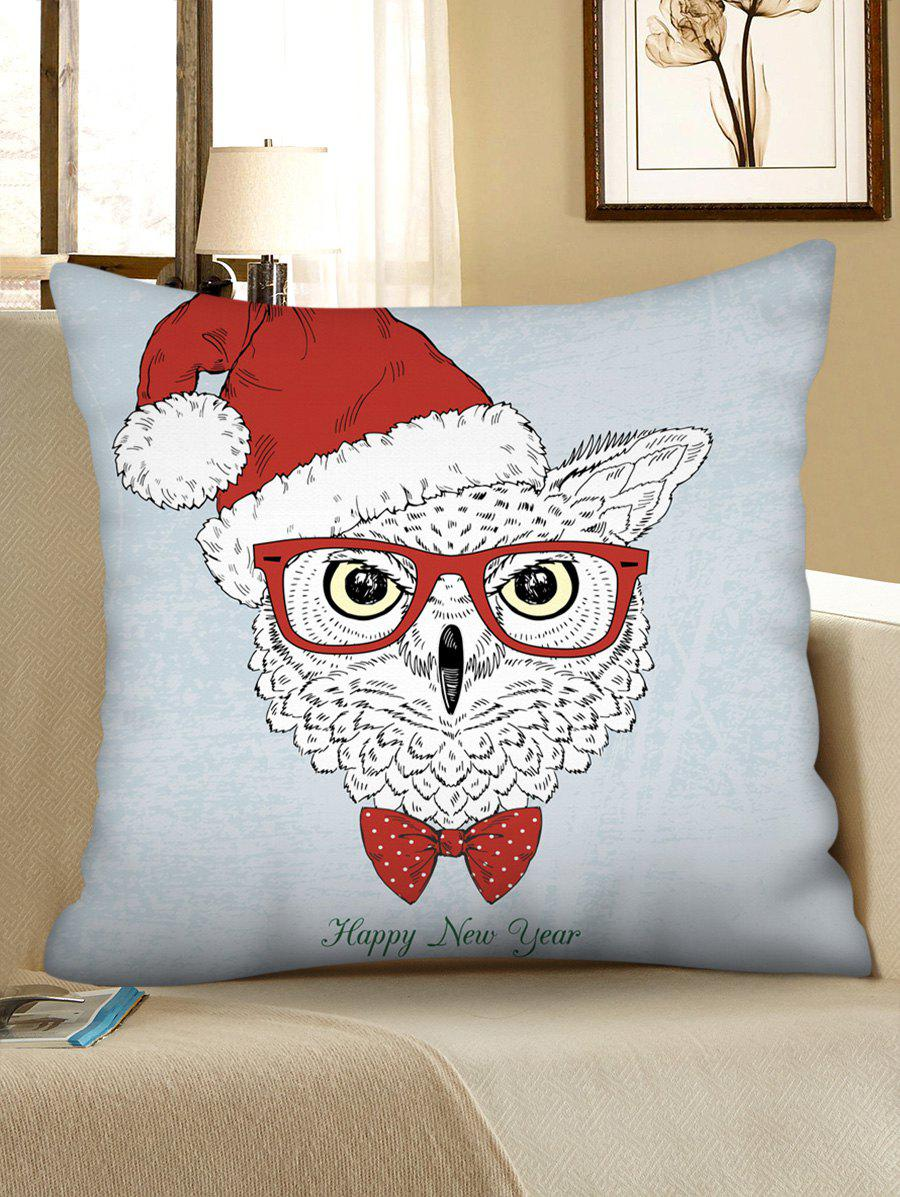 Sale Christmas Owl Pattern Throw Pillow Case