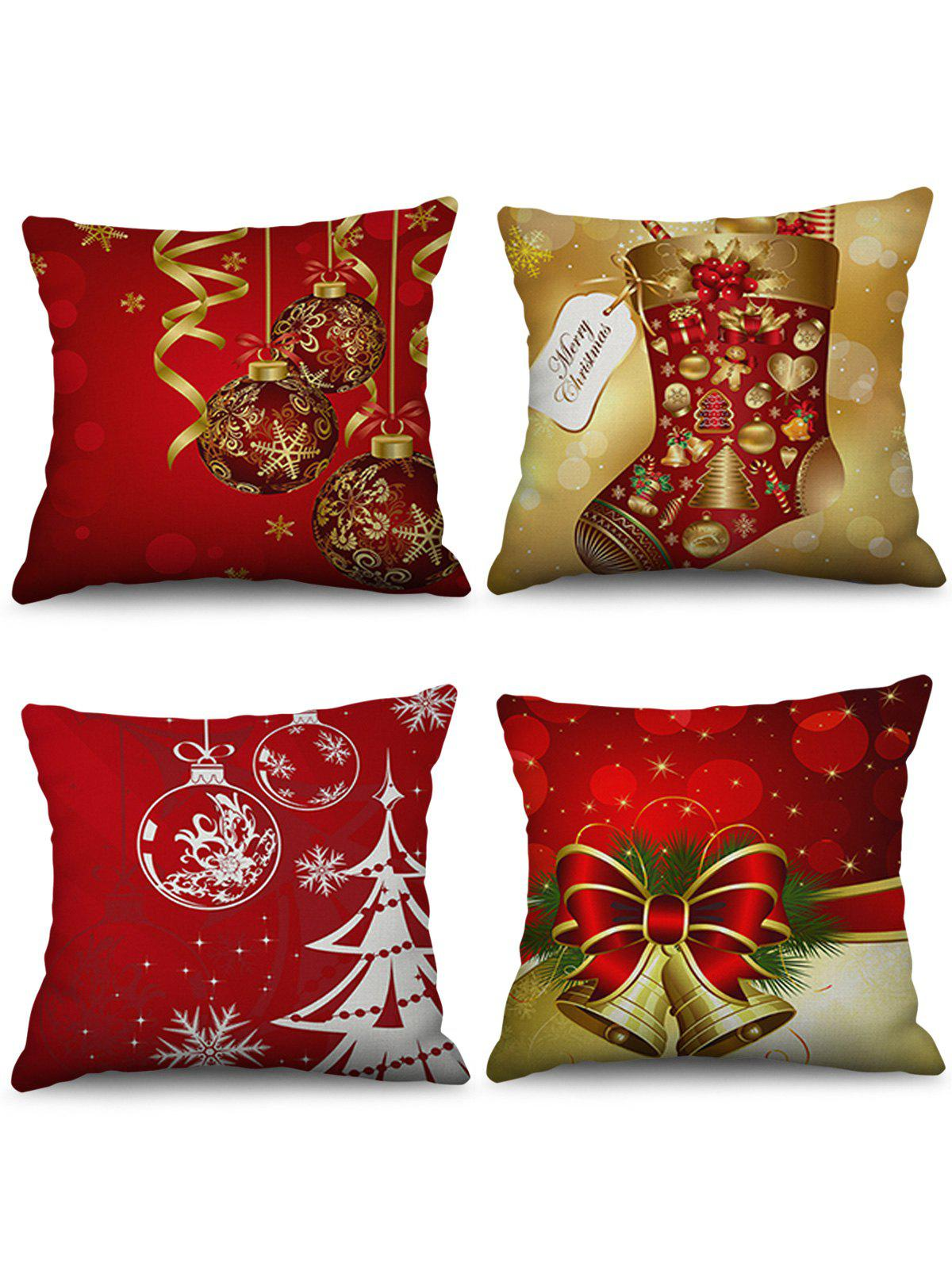 Hot Christmas Decorations Pattern Throw Pillow Cases