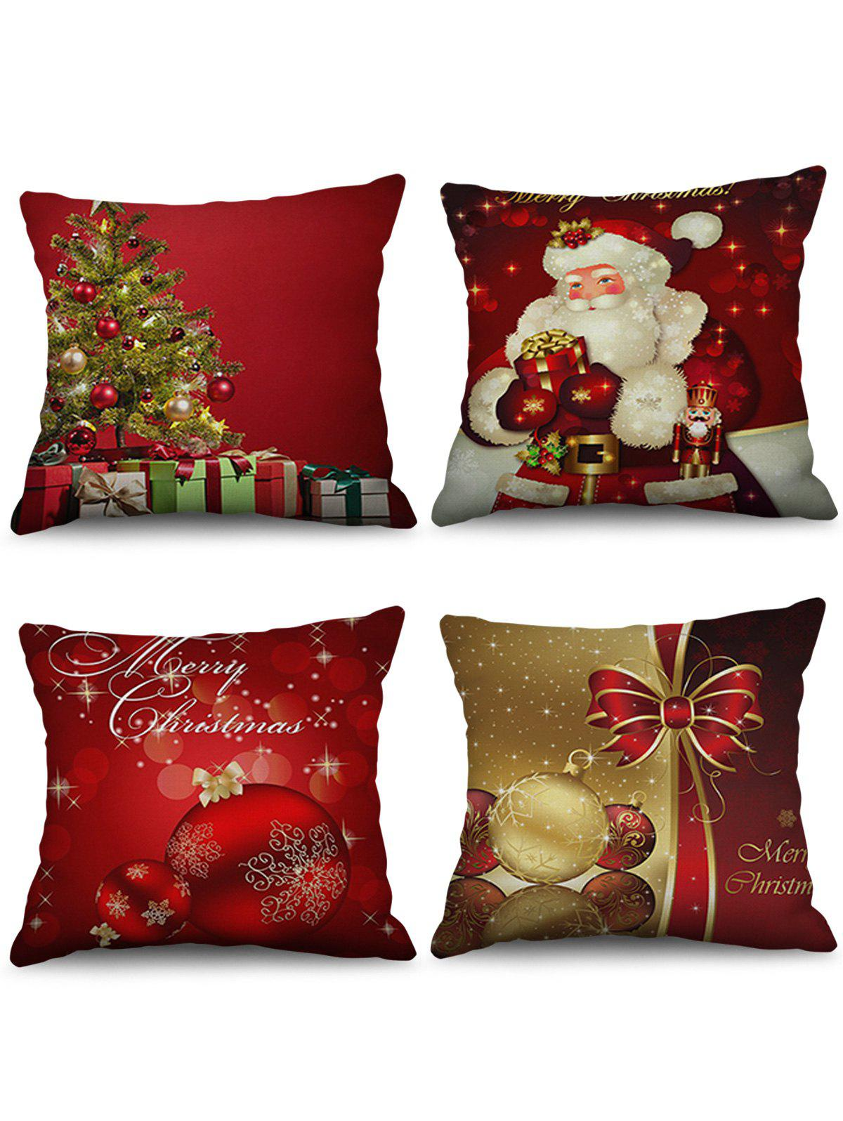 Shops Christmas Decorations Printed Throw Pillow Cases