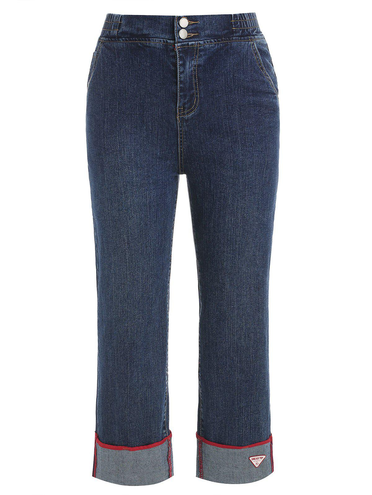 Online Wide Legged Flanging Jeans