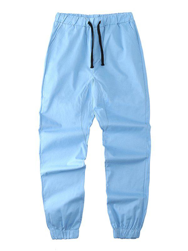 Sale Solid Drawstring Waist Jogger Pants