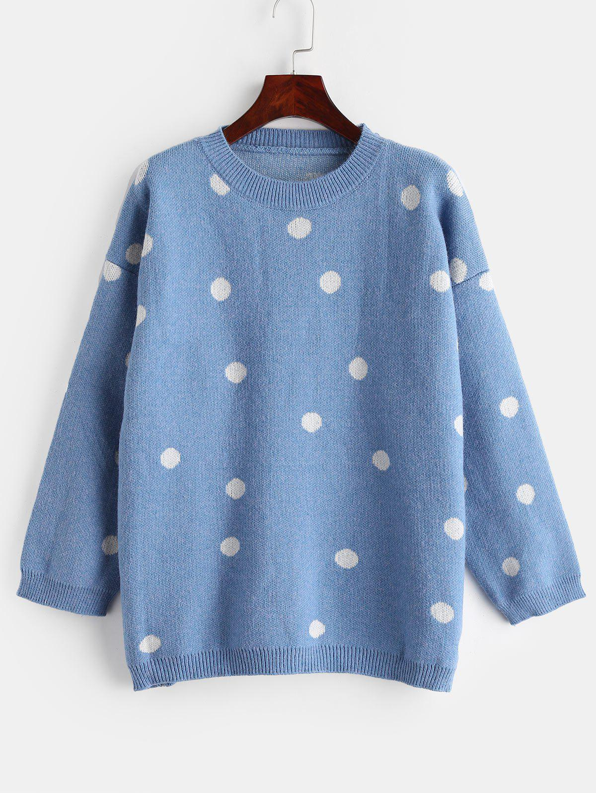 Outfits Polka Dot Plus Size Knit Sweater