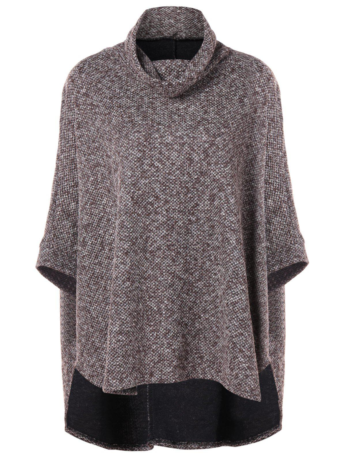 Buy High Low Batwing Sleeve Cape Sweater