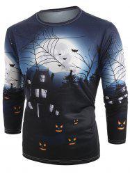 Halloween Theme Print Long Sleeve T-shirt -