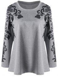 Raglan Sleeve Plus Size Print Top -