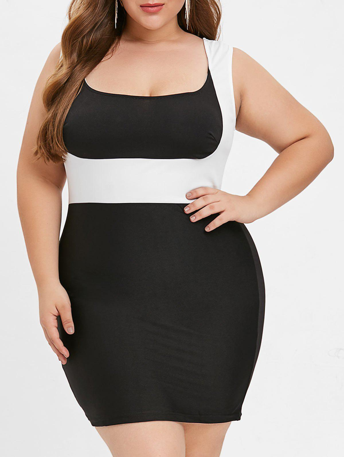 Shops Plus Size Sleeveless Bodycon Dress