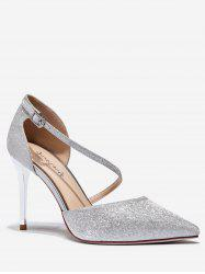 Sparkling Pointed Toe High Heel Pumps -