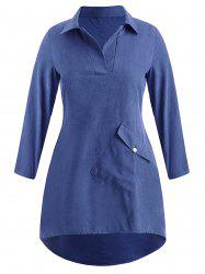 Plus Size Casual High Low Dress -