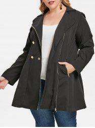 Plus Size Double Breasted Coat -