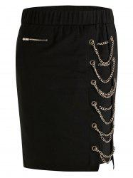 Plus Size High Rise Chain Skirt -
