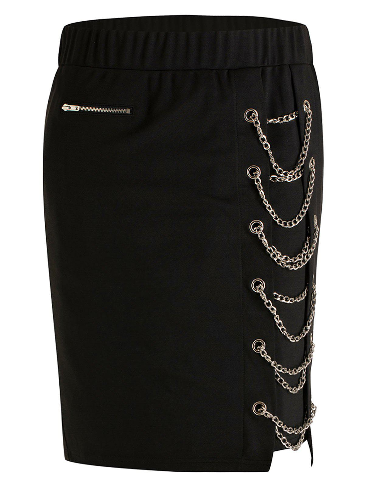 Shops Plus Size High Rise Chain Skirt