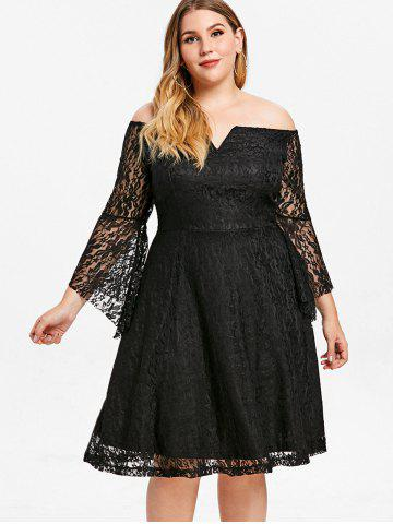 Black Lace Skater Dress Free Shipping Discount And Cheap Sale
