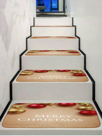Christmas Ball Pattern Stair Rugs - MULTI - 5PCS X 28 X 9 INCH