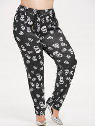 Plus Size Halloween Skull Pants -