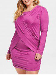 Plus Size Criss Cross Ruched Dress -
