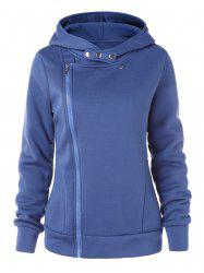 Zip-up Double Pocket Hoodie -